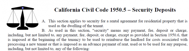 Everything You Need to Know about Los Angeles Security Deposits