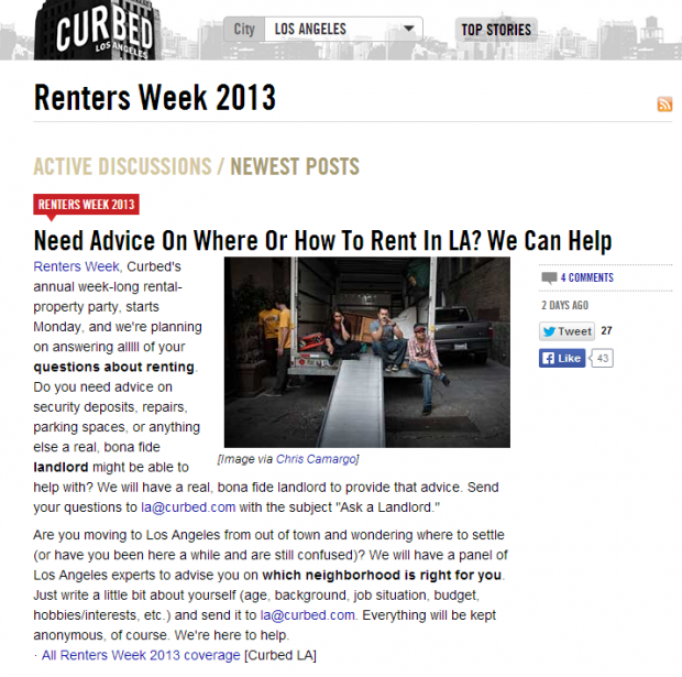 Check Out Renter's Week This Coming Monday on Curbed!