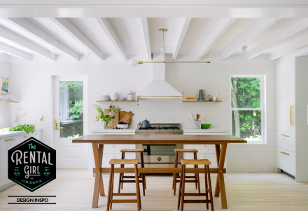 The Rental Girls Choice for the Ideal Kitchen. Dwell is giving us a Scandinavian Beach Haven.
