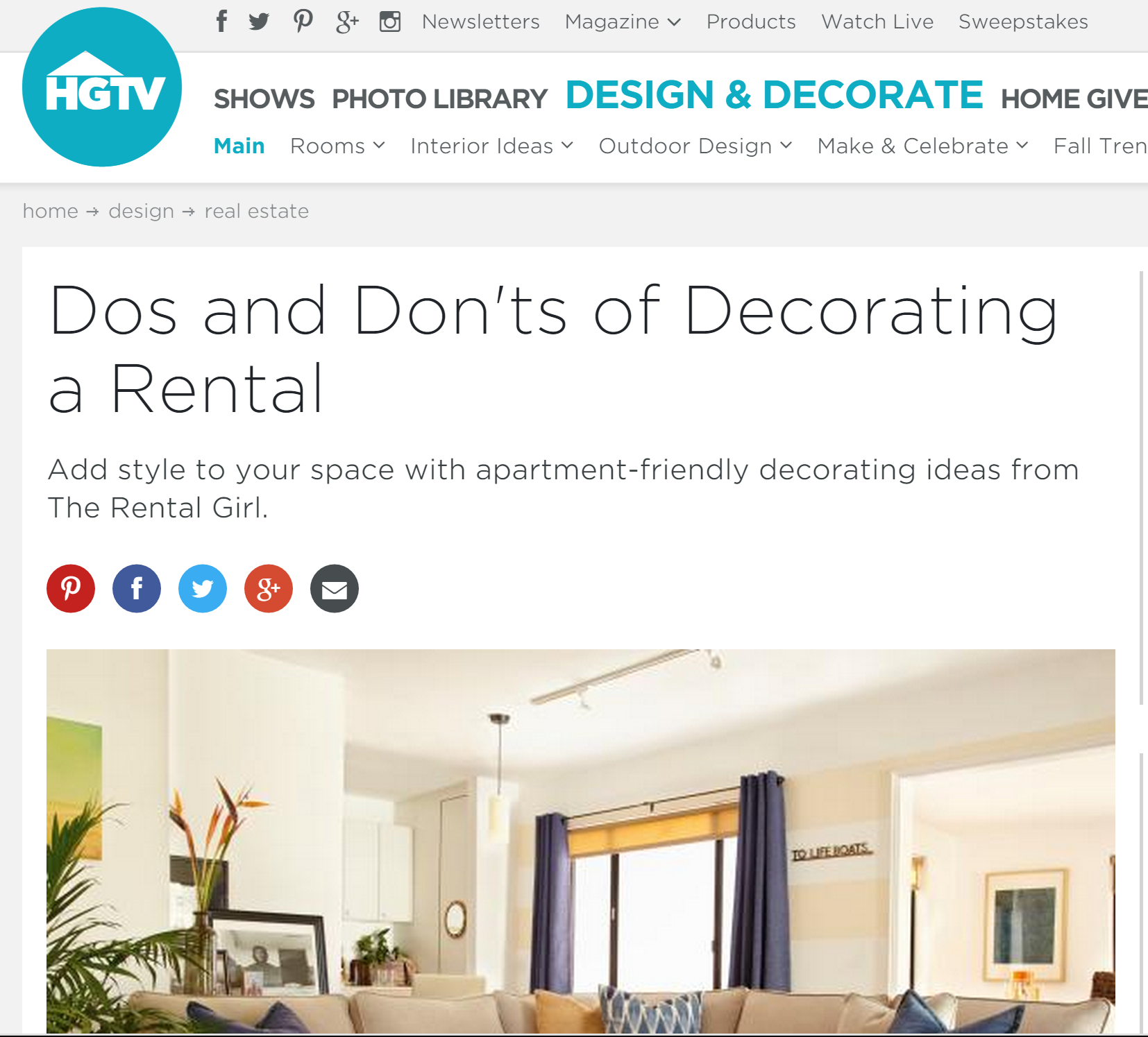 HGTV's Do's and Don'ts