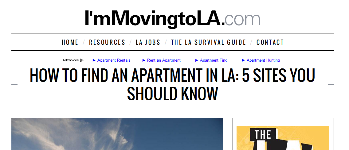 I'm moving to LA